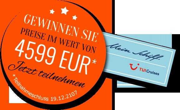 Gewinnen Sie Preise im Wert von 4.599 EUR